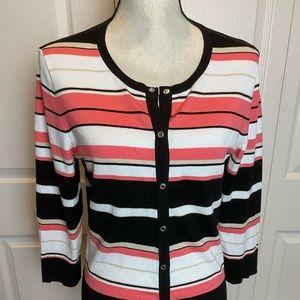 White House Black Market Pink/Black Sweater